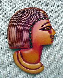 Bakelite Vintage Egyptian Brooch