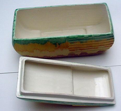 English Pottery: Beswick Deco Biscuit Barrel