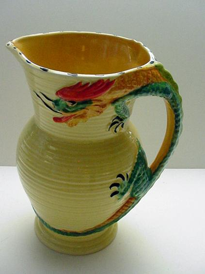 Burleigh Ware Dragon Pitcher
