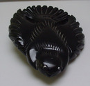 Bakelite Vintage Black Carved Bird Brooch