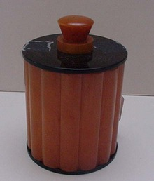 Bakelite English Ribbed Deco box