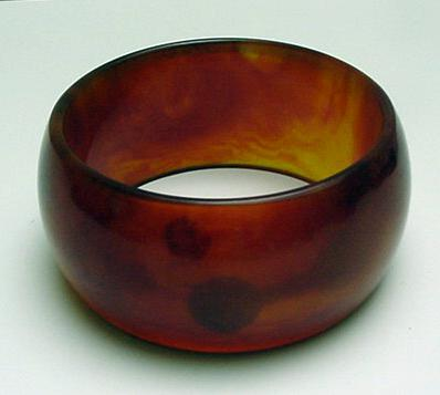 Bakelite Wide Tortoiseshell Bangle