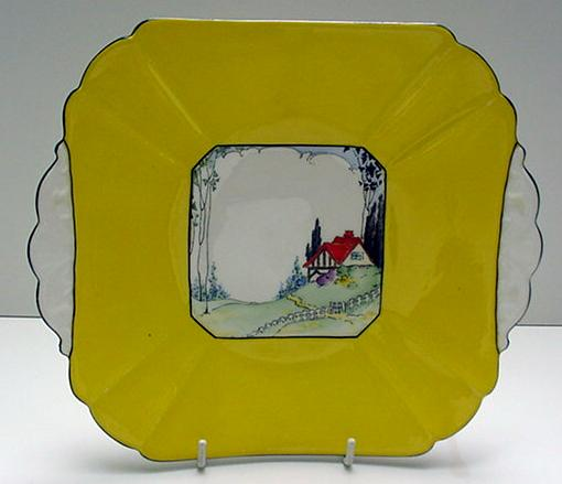 Shelley Cottage #1 Yellow Sandwich Plate