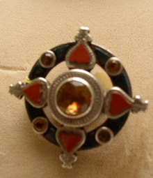 Victorian Scottish Sterling Agate Brooch