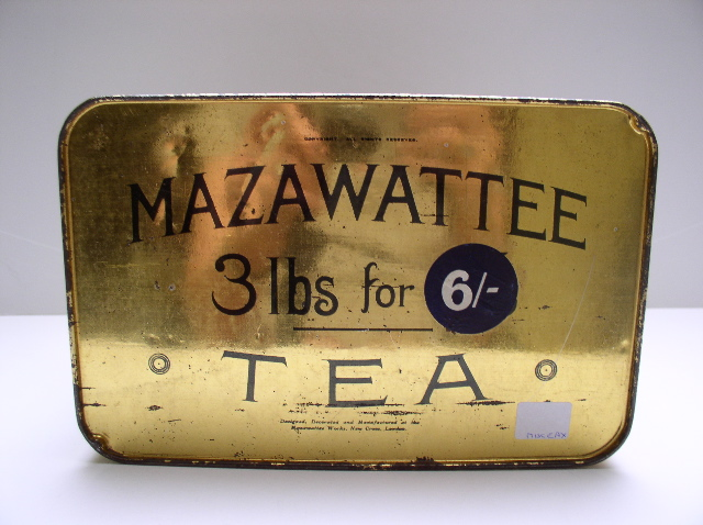 Mazawattee Tea Advertising Tin