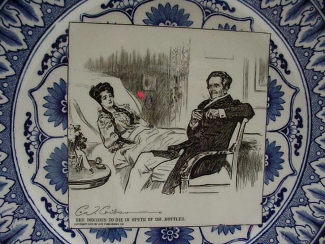 Royal Doulton Gibson Plate: Doctor and Patient
