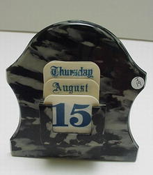 Bakelite and Celluloid Perpetual Calendar