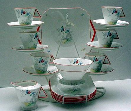 Shelley Mode Deco Tea Set