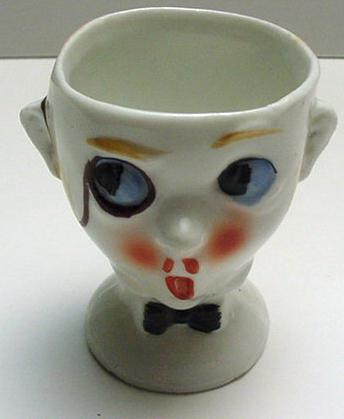 Egg Cup: Man with monocle