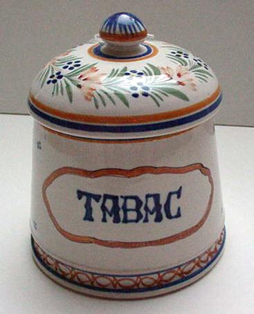 Quimper Tobacco Jar