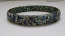 Celluloid Blue and White Rhinestone Bangle