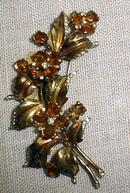 Costume:Trifari Sterling Citrine Brooch