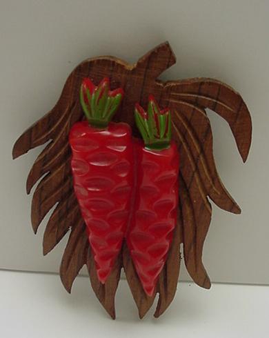 Bakelite and Wood  Vintage Pepper Pin