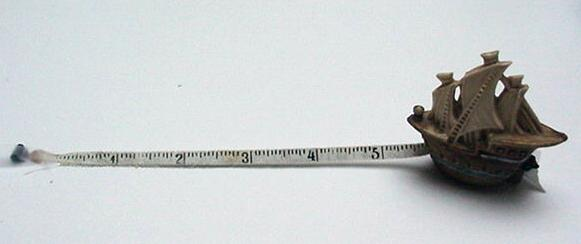 Celluloid Vintage Ship Tape Measure