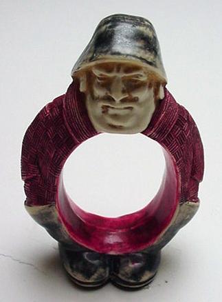 Celluloid Fisherman Napkin Ring