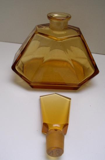 Czechoslovakian Vintage Deco Perfume bottle