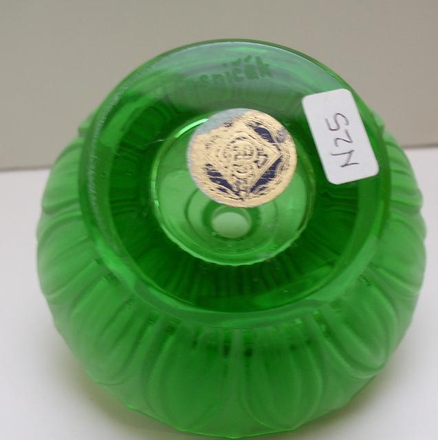 Czech Vintage Green Perfume Bottle