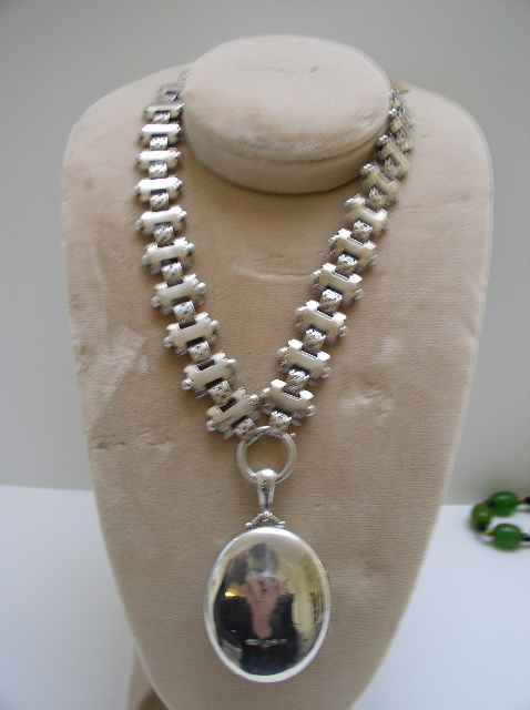 Victorian Silver Necklace with Locket