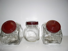 Bakelite and Glass set of three Vintage