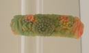 Celluloid vintage multicolored floral bangle