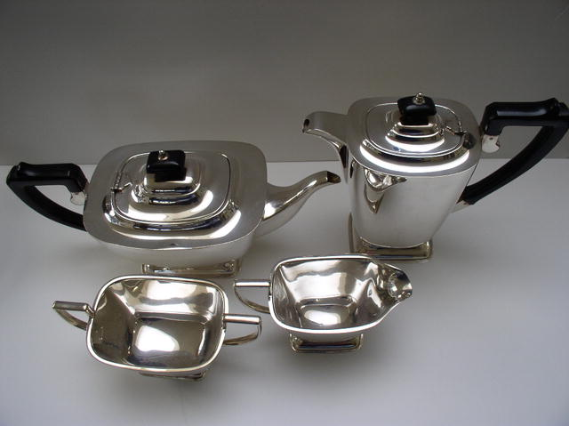 Bakelite English silver Plate Coffee and Tea