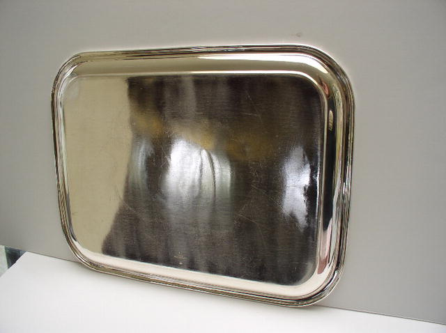 English Hotel Silver Plate Serving Tray