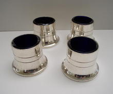 English Silver Plate Set of four Salts