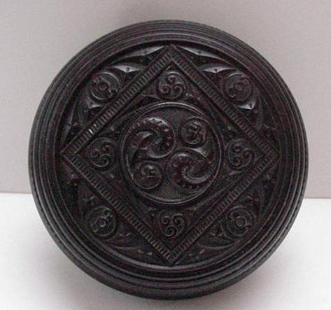 Bakelite Vintage English Design Powder Box