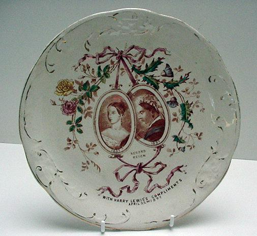 Commemorative Plate:Victoria:Record of her