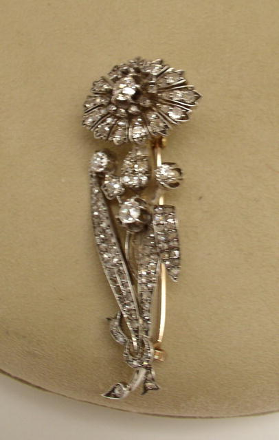 Victorian Diamond Trembler Brooch