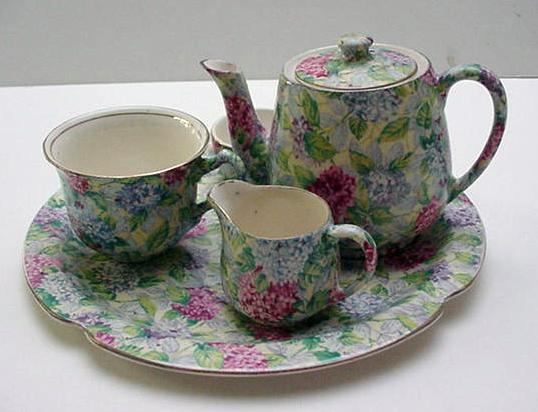 James Kent Vintage Hydrangea Breakfast Set