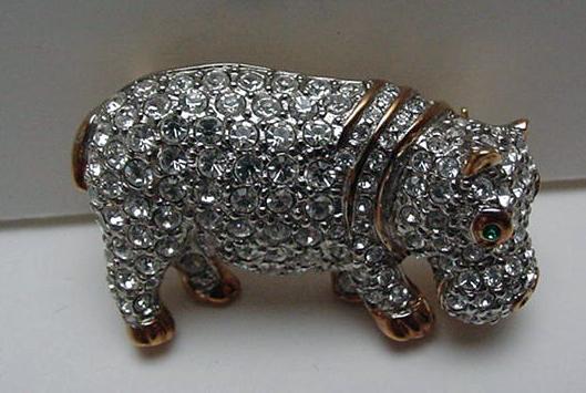Costume: Butler and Wilson Hippopotamus Brooch