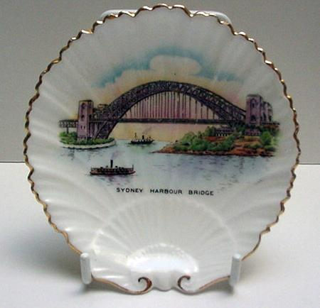 Shelley Oyster Shell Plate: Sydney Harbor
