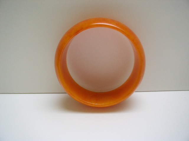 Bakelite Vintage Orange Bangle