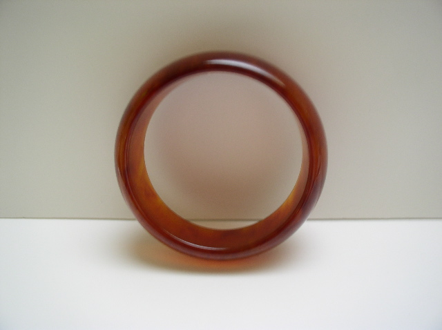 Bakelite Vintage Tortoiseshell Colored Bangle