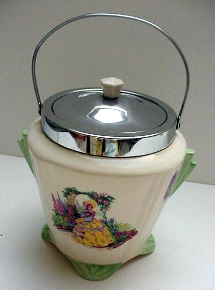 Lovely 1930's Lady Biscuit Barrel