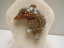 Iradj Moini Dolphin Brooch-Semi Precious Stones