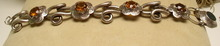 Victorian Sterling Link Bracelet with Citrines