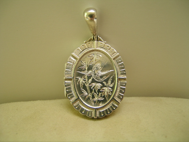 English Victorian Sterling Silver Locket