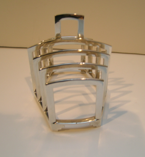 English Sterling Silver  Toastrack