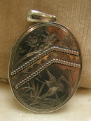 English Victorian Silver Locket