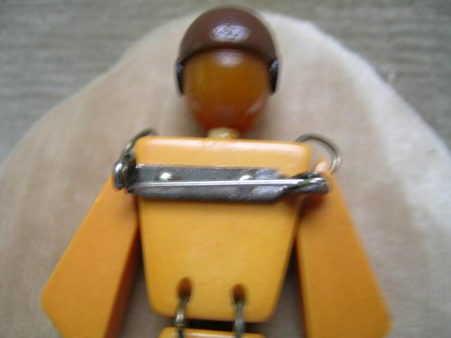 Bakelite Rare Vintage Pilot Brooch