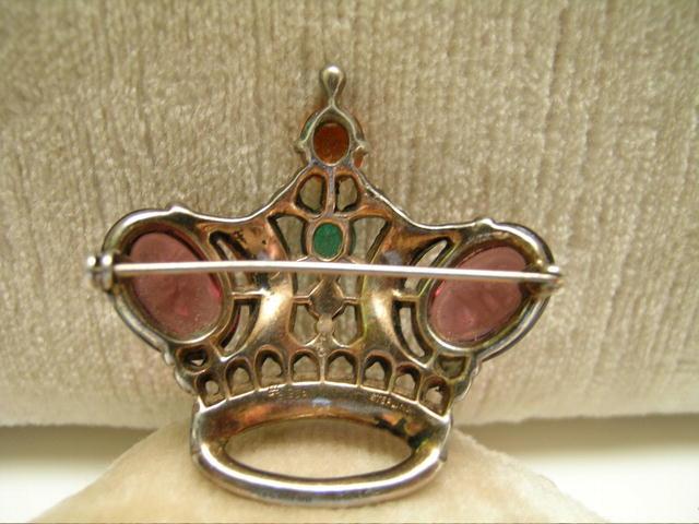 Vintage Trifari Sterling Crown Brooch