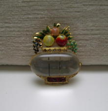 Rare Vintage Coro Jelly Belly Pin with Fruit