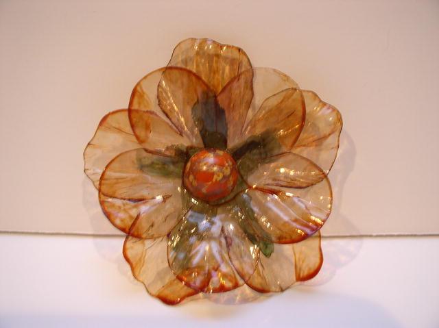 Lucite Flower Brooch
