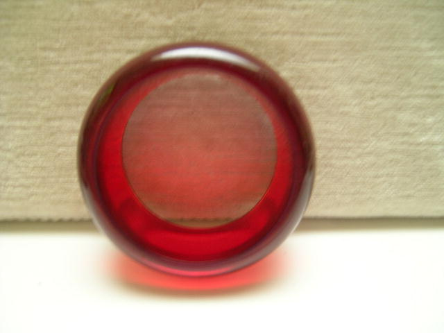 Big and bold and Bright Red Bakelite Bangle
