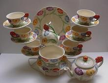 Grindley English Flower Tea Set With Teapot