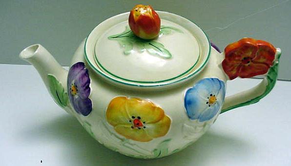 Grindley English Flower Tea Set With Teapot