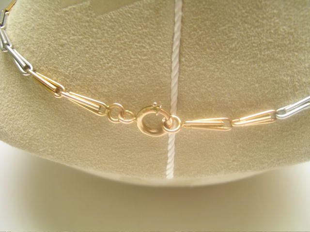 !8 Ct. Gold and Platinum English Necklace