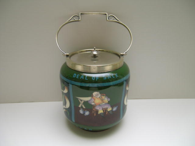 Shelley Intarsio Biscuit Barrel with Silver